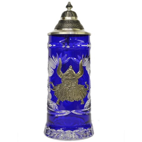 Blue Crystal Viking Stein - All Steins