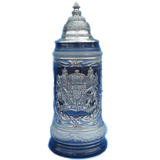 Blue Bayern Beer Stein - All Steins