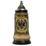 Black and Tan Eagle with City Crests Beer Stein - All Steins
