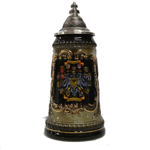 1/4 Liter Gold Embossed Germany Stein - All Steins