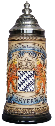 Bayern Bavarian Crest Beer Stein - All Steins