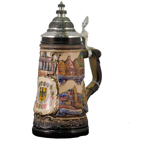 Inlaid City Crests Deutschland Stein - All Steins