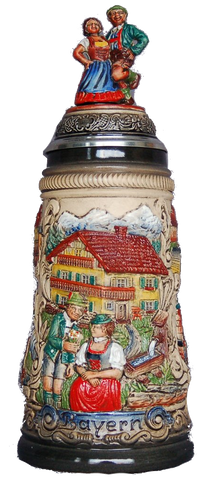 Dancing Couple Bayern Beer Stein - All Steins