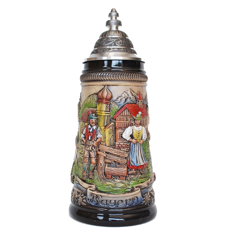 """Bayern"" Stein with Panoramic View - German Beer steins - All Steins"