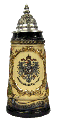 Deutschland Stein with Cities and Eagle - All Steins