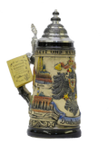 "1/2 Liter ""Deutschland"" Stein with Cities and Coat of Arms"