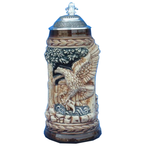 Beige Eagle Beer Stein - All Steins
