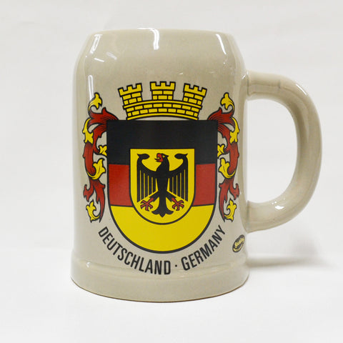 Deutschland-Germany Ceramic Mug with Shield - All Steins