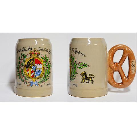 God Bless Mug with Pretzel Handle - All Steins