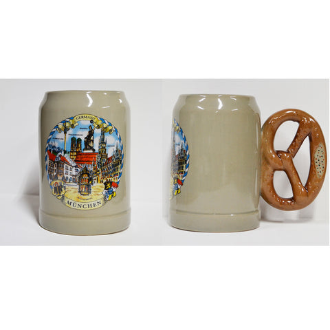 Munchen Mug with Pretzel Handle