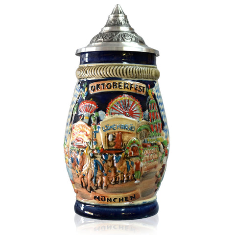 Oktoberfest Souvenir Pointed Lid - All Steins