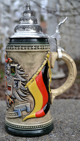 Rustic Deutschland-Germany Beer Stein - All Steins