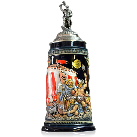 Leif Ericson Painted Stein - All Steins