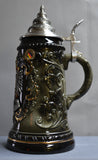 1/2 Liter Black Deutschland Stein with Coat of Arms - All Steins