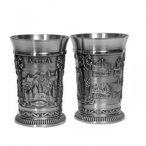 2 Stamper Salzburg Shot Glasses - All Steins