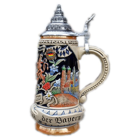 Bayern Beer Stein With Coat Of Arms
