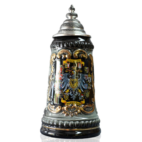 Gold Embossed Germany Stein