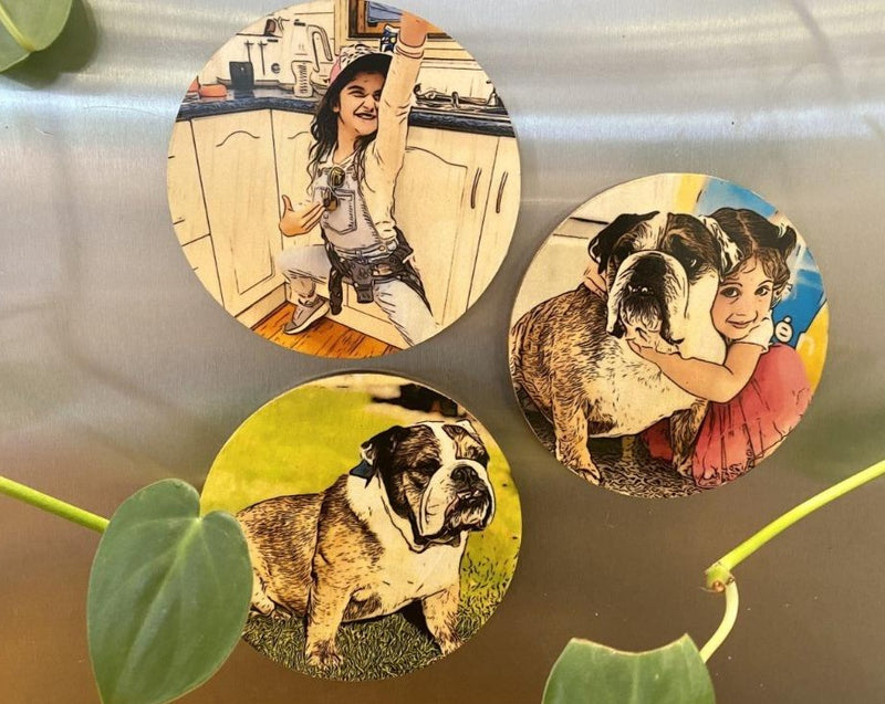 Realistic Comic Pet Magnets