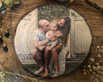Father & Son Personalised Wood Slice - Pine