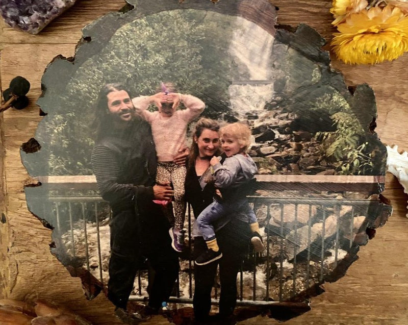 Family Custom Photo Gift on Pine Wood Slice