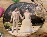Wedding Gift - Personalised Wood Slice Silver Birch