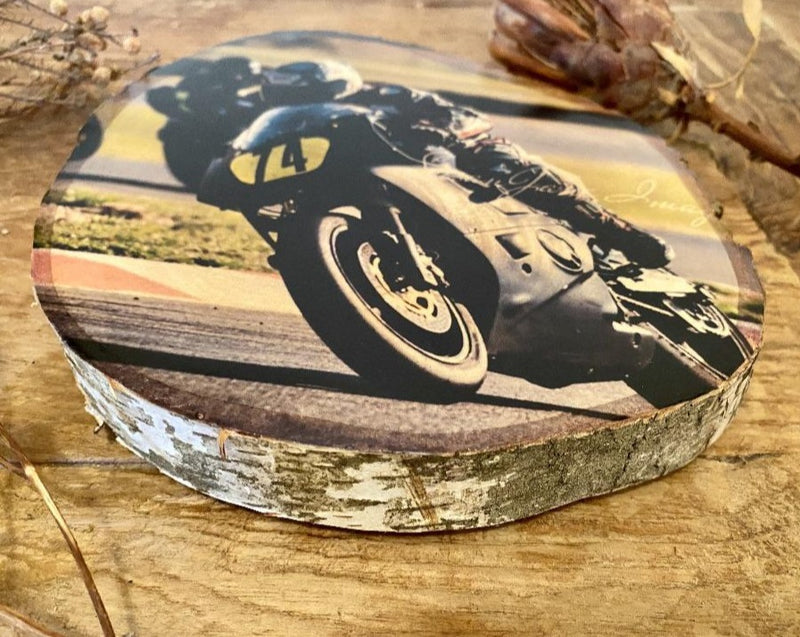 Father & Son Personalised Wood Slice - Silver Birch