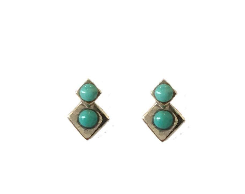 Turquoise Twinkle Stud Earrings