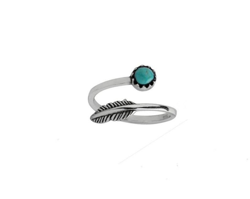 Feather & Stone Ring