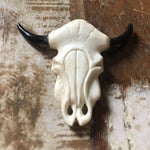 Hand Carved Buffalo Head Bead