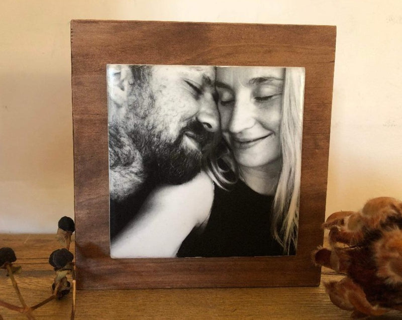 Personalised Photo Block Black & White