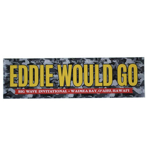 "Eddie Would Go 10.5"" Sticker (Yellow/Grey Camo) - Eddie Aikau Big Wave Invitiational 2019/2020 surf"