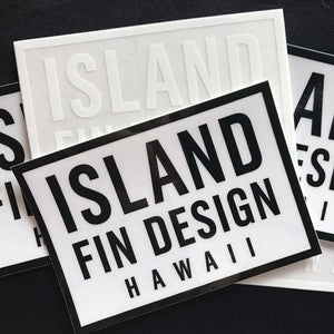 "Island Fin Design Hawaii 4"" Sticker"