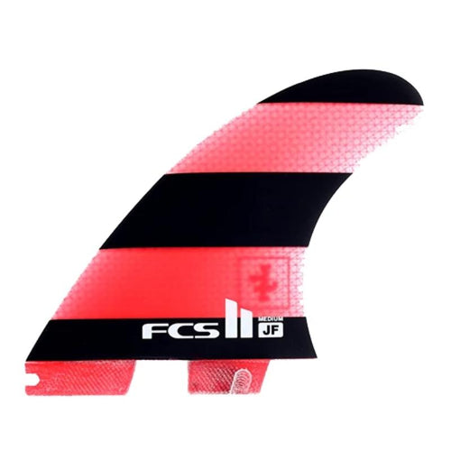 Medium FCS2 Jeremy Flores Thruster (Red/Black) surf surfboard accessories