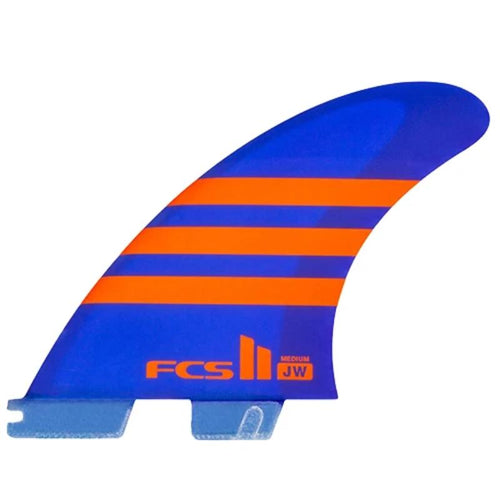 Medium FCS2 Julian Wilson PC AirCore Limited Thruster (Blue/Orange) surf surfboard accessories