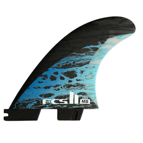 Large FCS2 Matt Biolos Thruster (Black/Blue) surf surfboard accessories