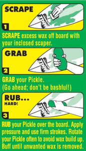 The Pickle Wax Remover instructions
