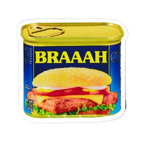 "BRAAAH Spam Can 3"" Sticker surf"