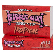 Load image into Gallery viewer, Bubble Gum Surf Wax Original Formula - Tropical (Above 74°)