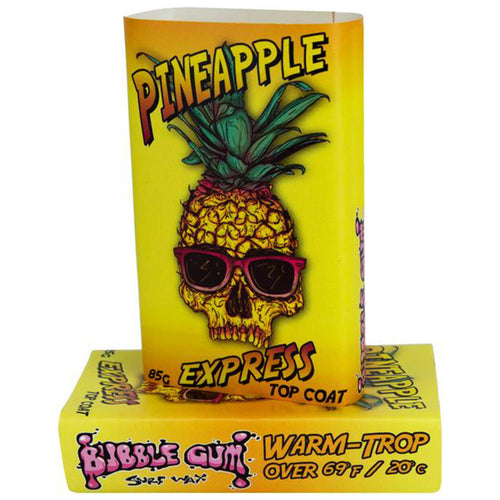 Bubble Gum Surf Wax Pineapple Express Top Coat - Warm/Trop (69º and Above)