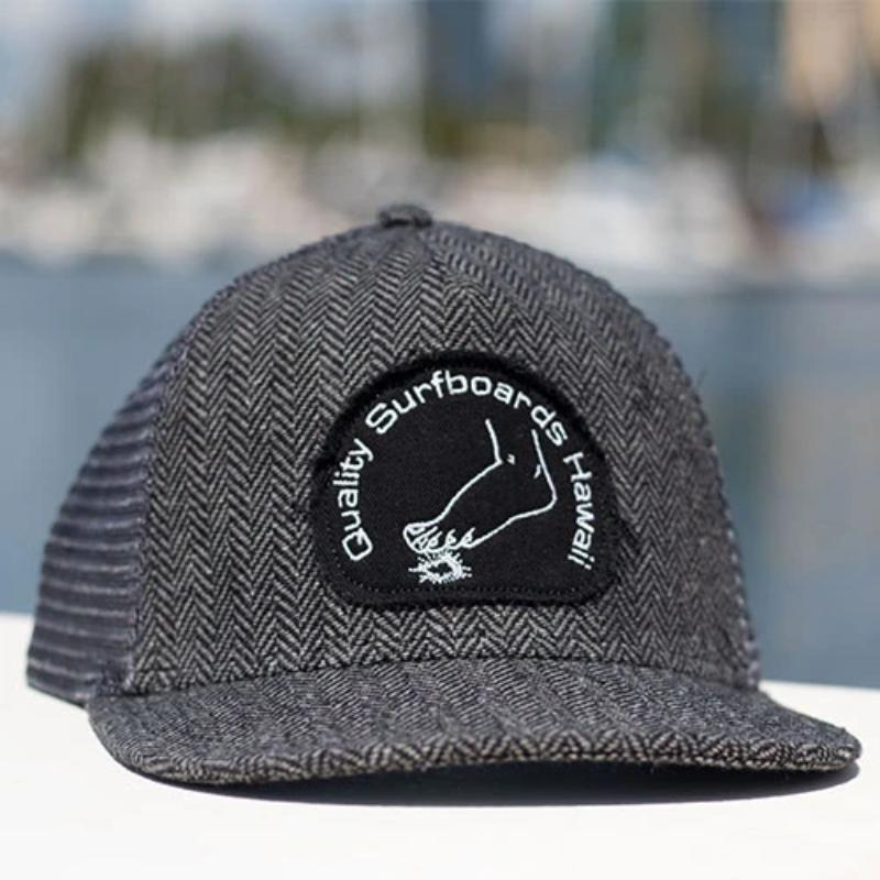 Hawaiian Tattoo Herringbone Trucker