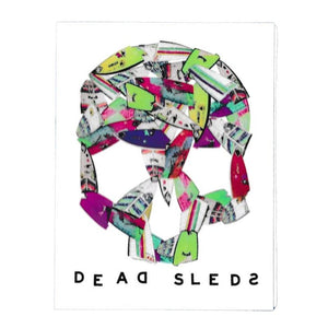 "Dead Sleds 4"" Sticker surf"
