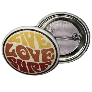 "Live Love Surf 1.5"" Collectibles Button"