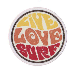 "Live Love Surf 3"" Sticker"