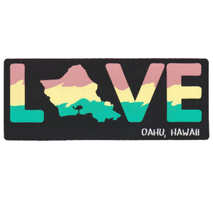 "Love 6.5"" Sticker"