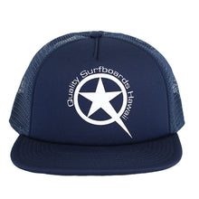 Load image into Gallery viewer, Star Trucker  White on Blue