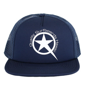 Star Trucker  White on Blue