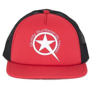 Star White on Red/Black