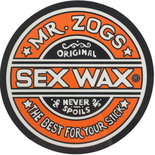 "Load image into Gallery viewer, Sex Wax Mr. Zogs Logo 3"" Sticker"