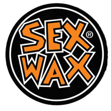 "Load image into Gallery viewer, Sex Wax words round 4"" Sticker"