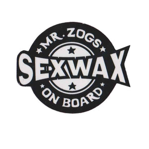 "Sex Wax on board 4"" Sticker"